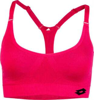 Női minőségi sportmelltartó rózsaszínben